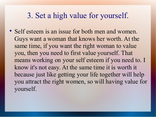 How to value a woman