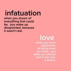 Can you be infatuated and in love