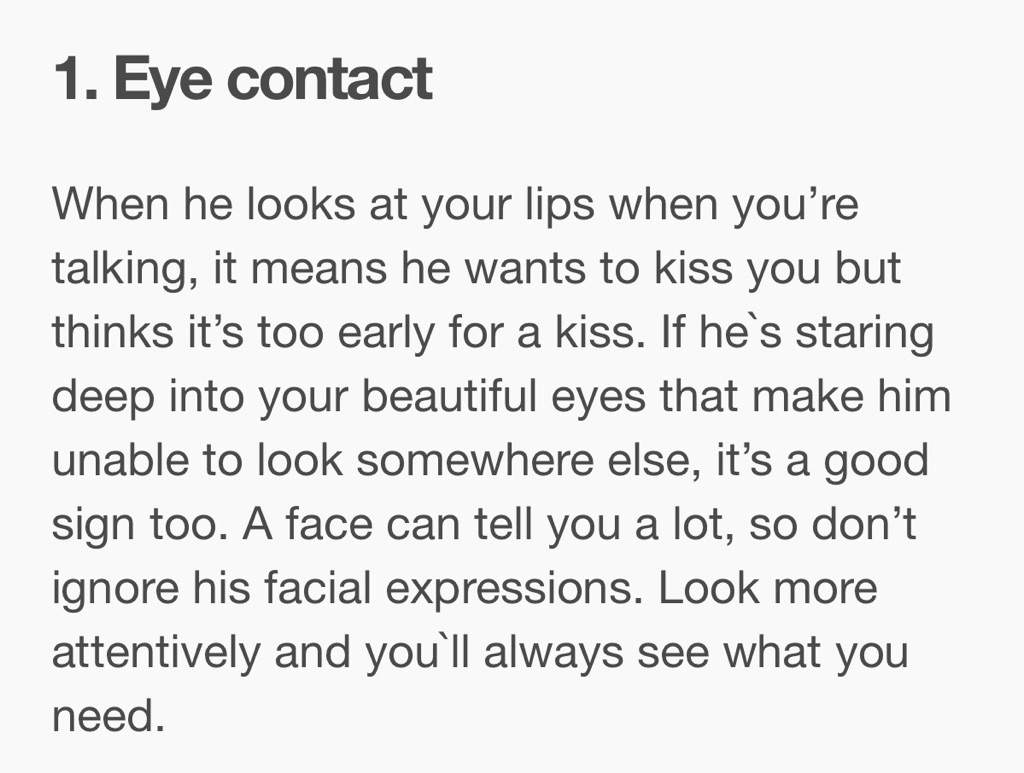 How to tell if he wants to kiss you