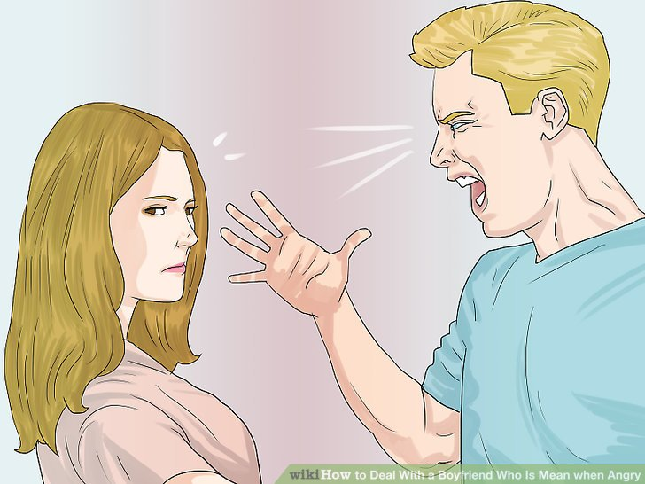 How to deal with an angry boyfriend
