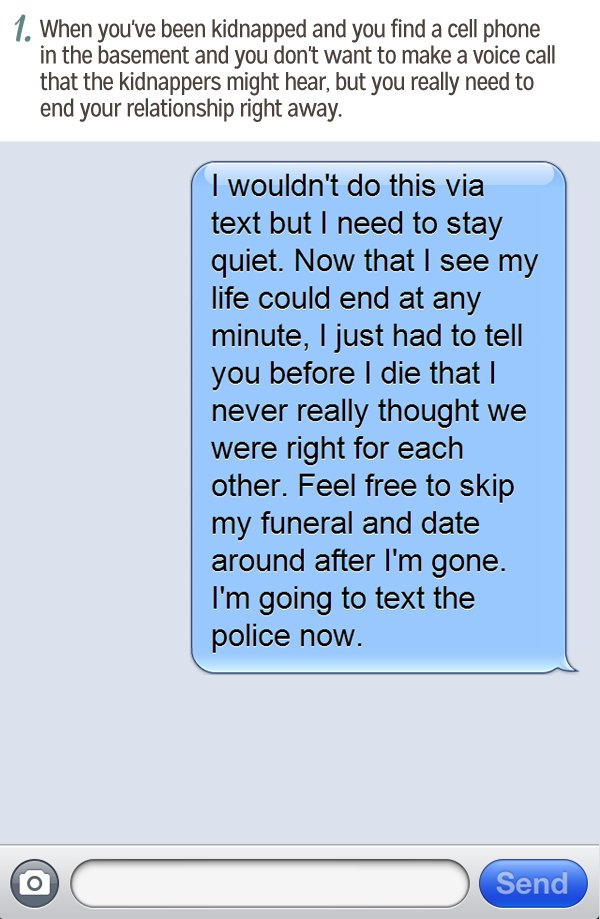 How to break up with your boyfriend over text message