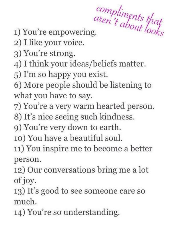 Things to compliment a girl on