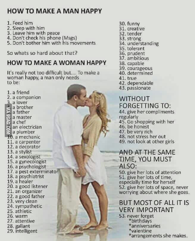 How to make a woman