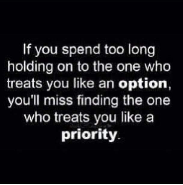 Being a priority in a relationship