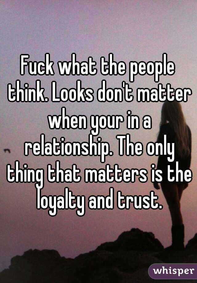 Do looks matter in a relationship