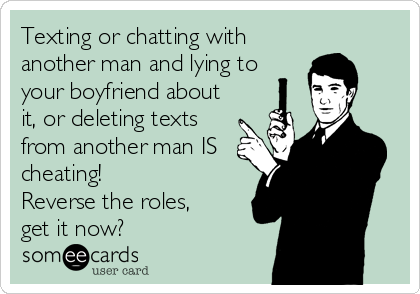 Is texting another man considered cheating