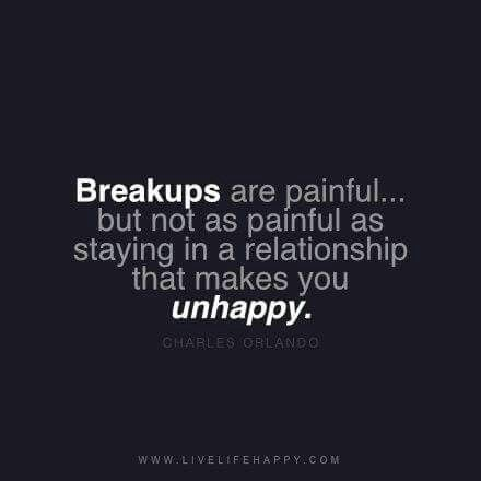 In a unhappy relationship