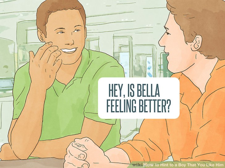 How to hint to a boy that you like him