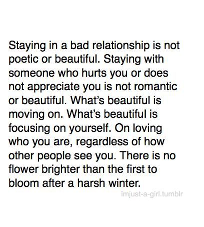 When to get out of a relationship
