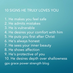Signs he really loves you