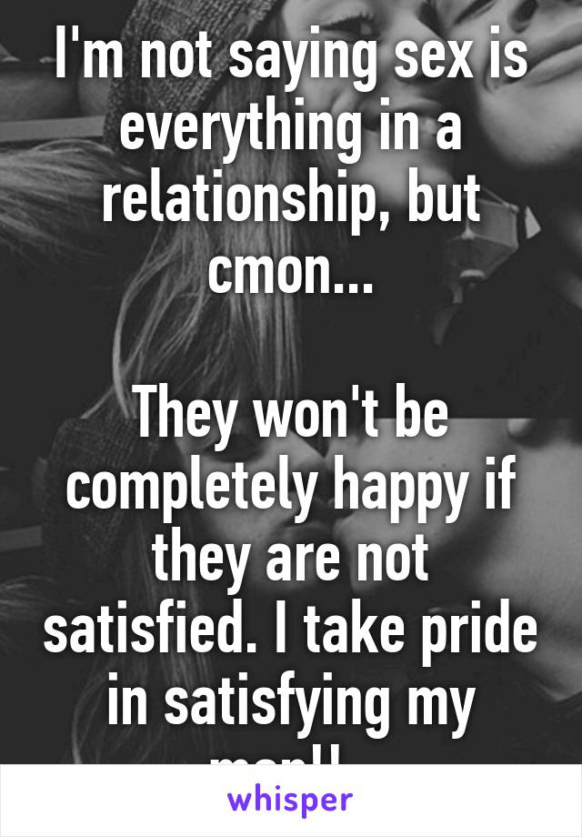 Not satisfied in relationship