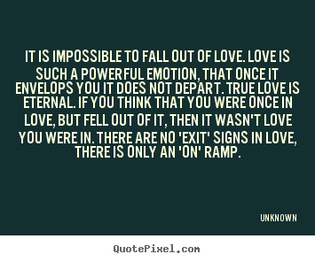 Fell out of love