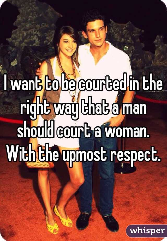 Best way to court a woman