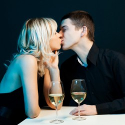 Kissing on first date