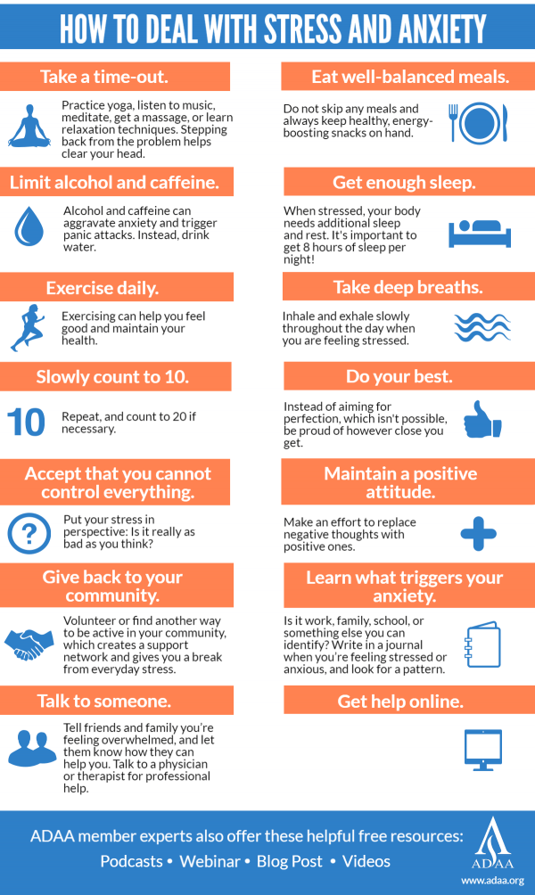Tips to reduce anxiety