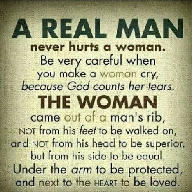 How should a man treat a woman