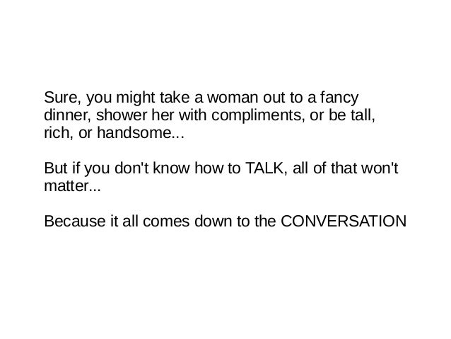 Topics to talk about with a woman