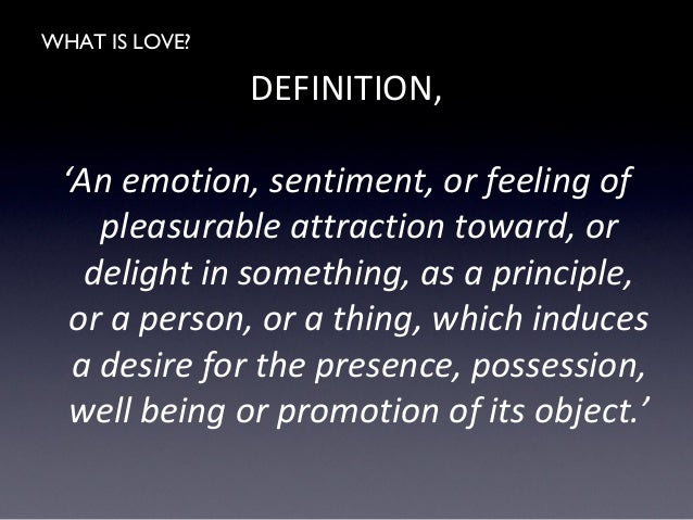 What is the definition for love