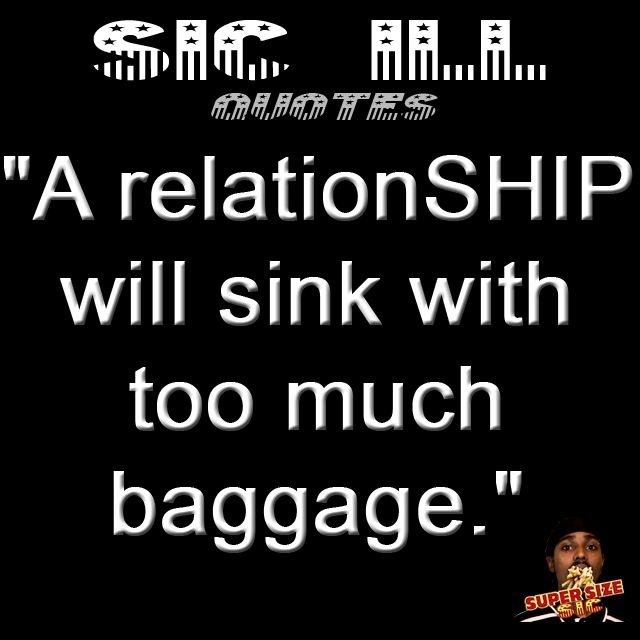 Too much baggage in a relationship