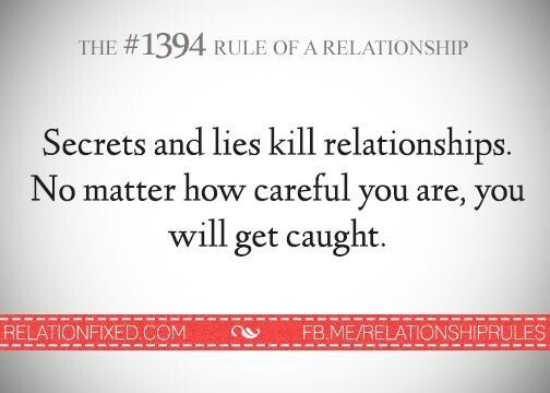 Lying in a relationship