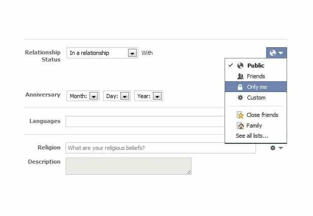How to change marriage status on facebook
