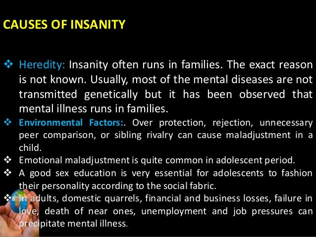 7 signs of madness