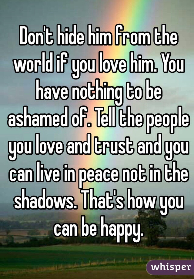 If you have not love you have nothing