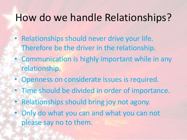 How to handle relationship issues