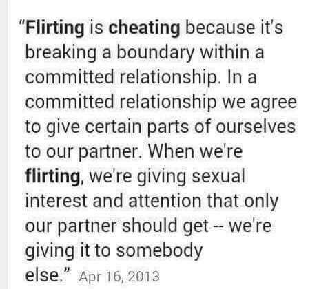 What is classed as cheating