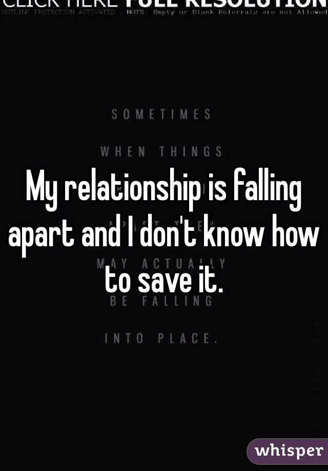 How to save my relationship