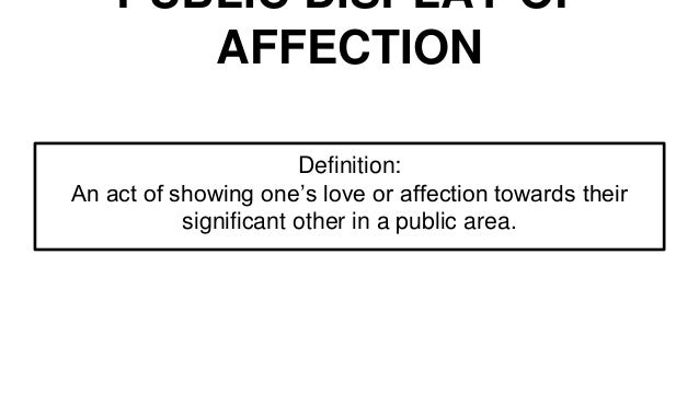 What is love and affection mean