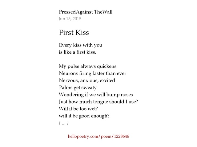 How to have a good first kiss