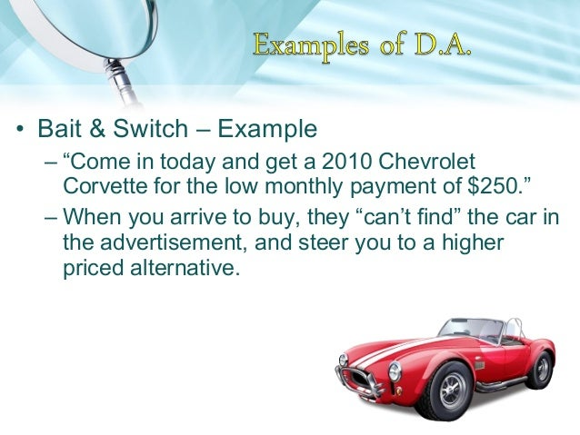 Bait and switch examples