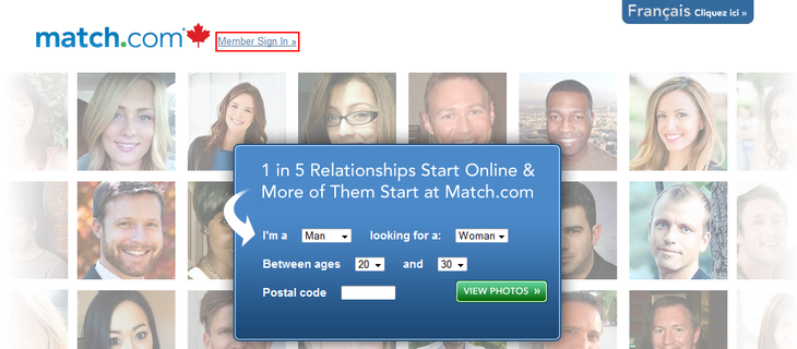 How to view match com without signing up