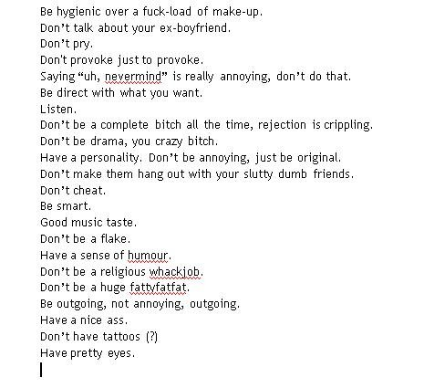 Things to like about a girl