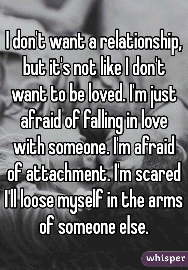 I really want to be in love