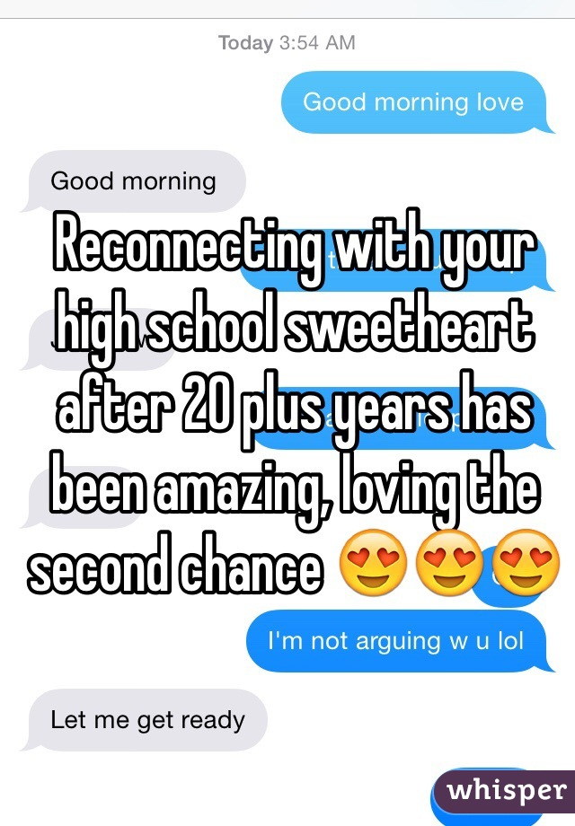 Reconnecting with high school sweetheart