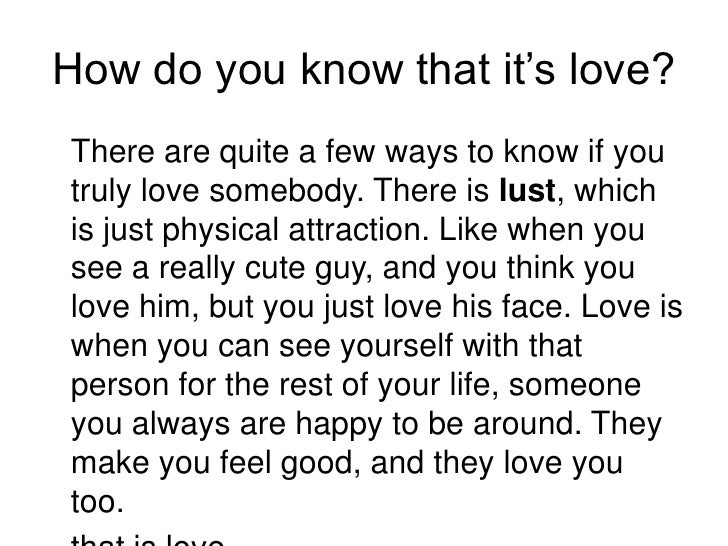 How do you know if someone truly loves you