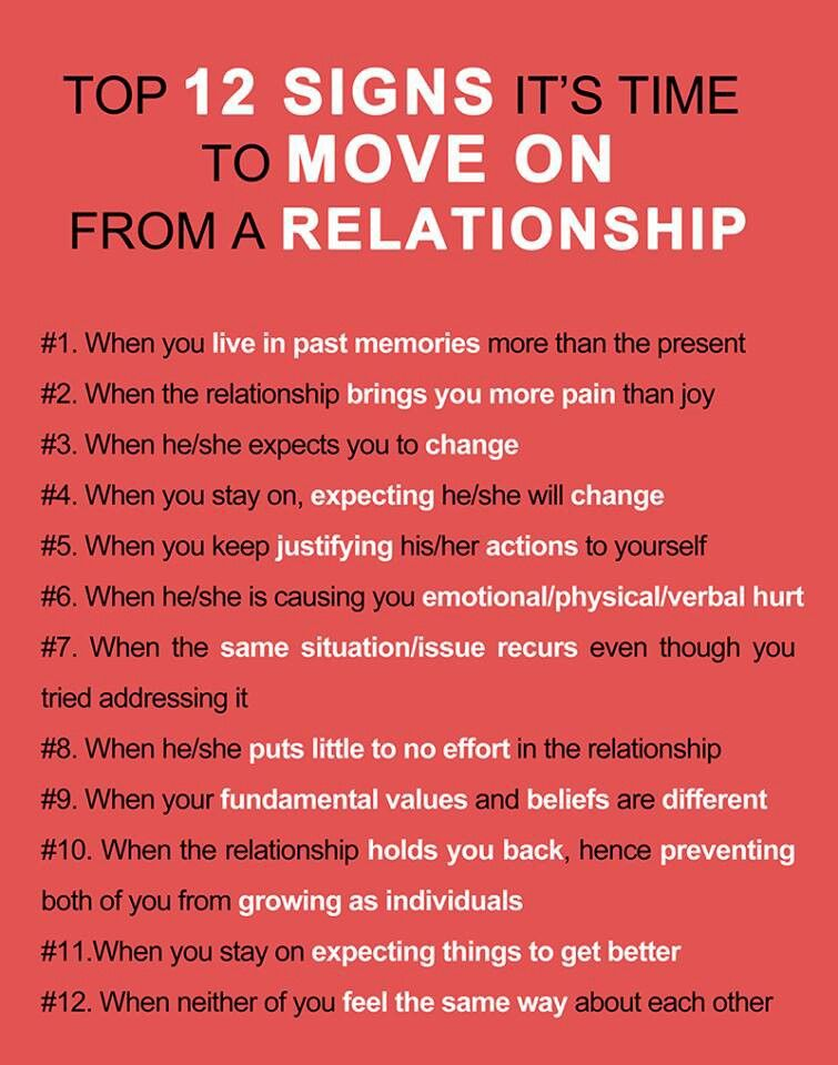 Things to do to move on from a relationship