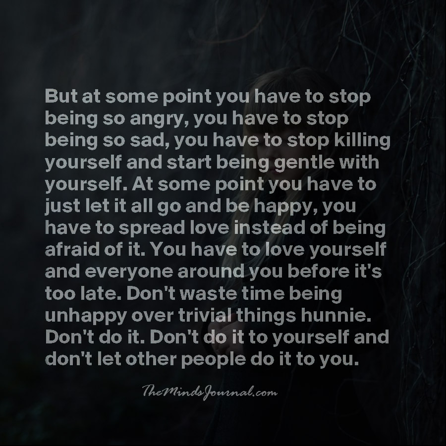 You have to love yourself
