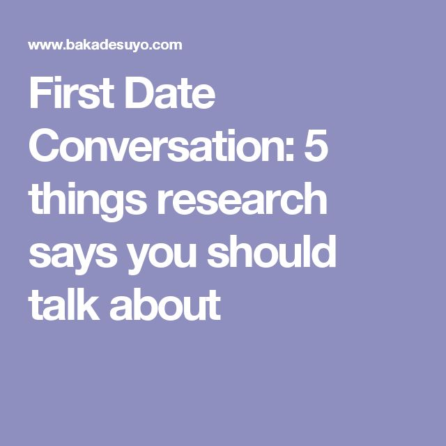 Topics for a first date