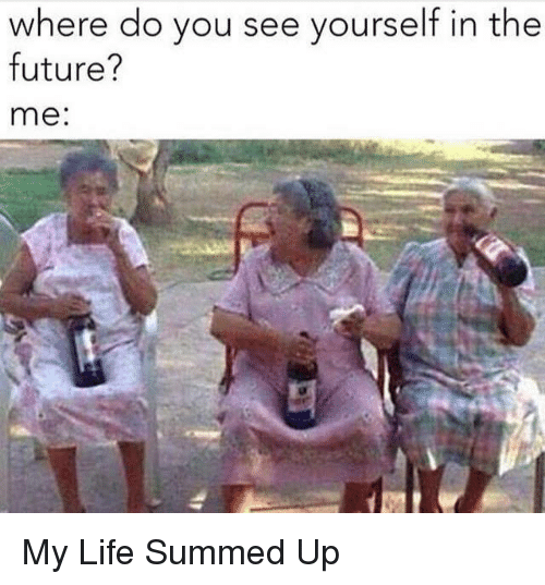 See yourself in the future