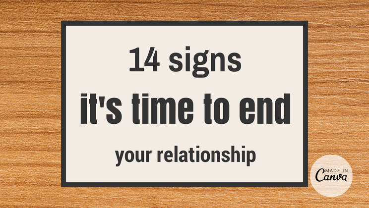 How to end relationship
