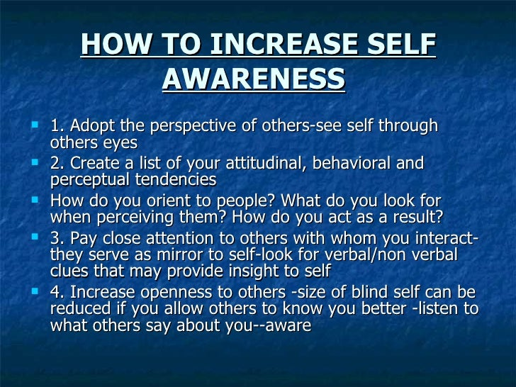 How to increase self image