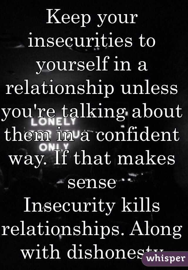 Insecurities in a relationship