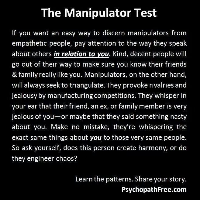 How to put a manipulator in their place