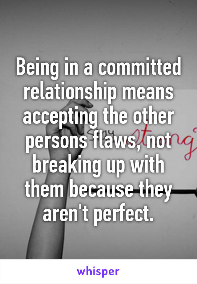 What is a committed relationship mean