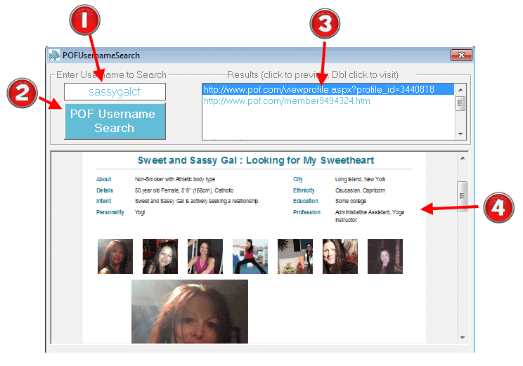 Pof username search hidden profile