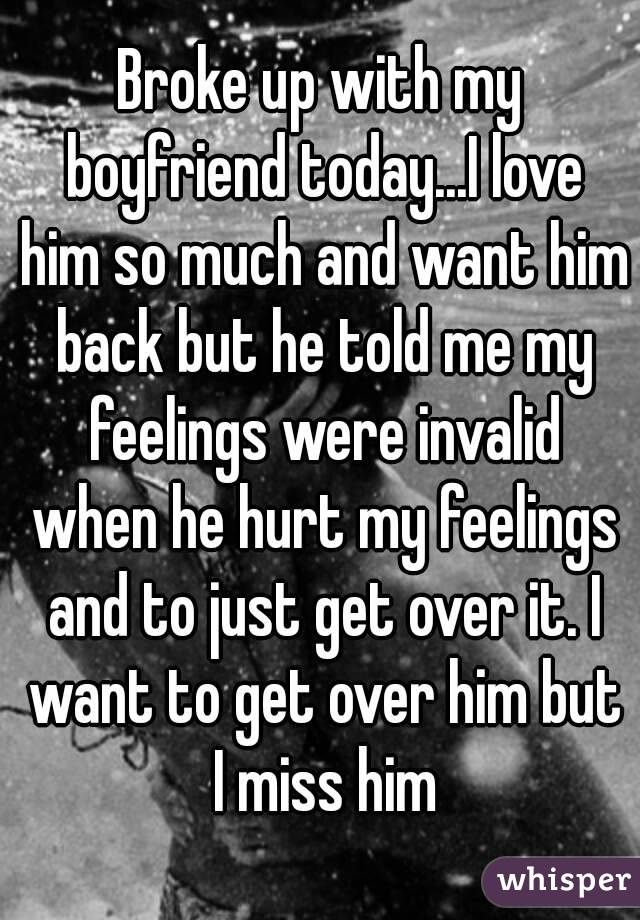 I hurt my boyfriends feelings