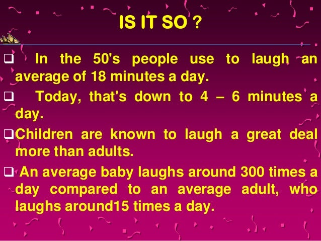 Why is laughter important